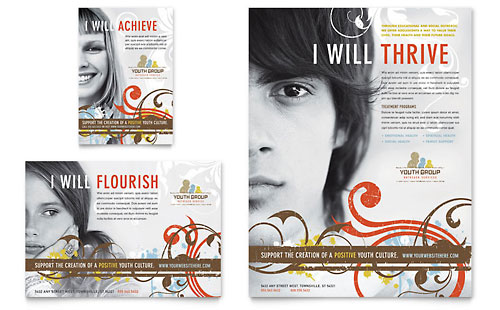 Church Youth Group Flyer & Ad Template