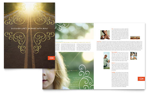 Christian Church Religious Brochure Template
