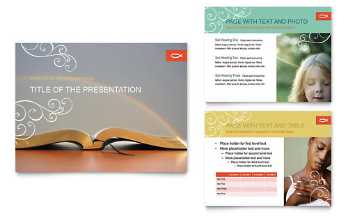 Christian Church Religious PowerPoint Presentation Template
