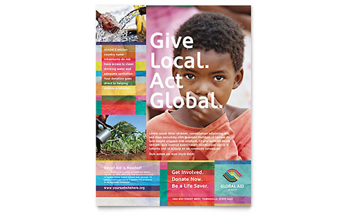 Humanitarian Aid Organization Flyer Template