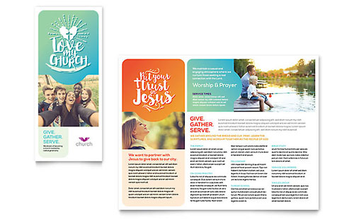 Church Print Design Brochure Template