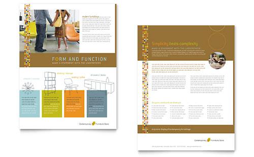 Interior Design Furniture Sales Sheet Templates – Sales Sheet Template