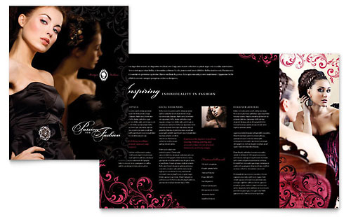 Formal Fashions & Jewelry Boutique Brochure Template