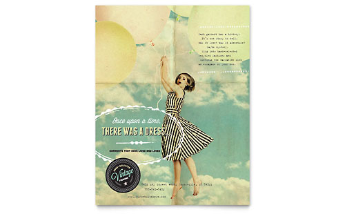 Vintage Clothing Flyer Template