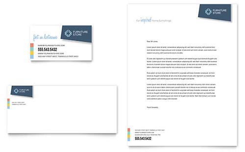 Home Furnishings Business Card & Letterhead Template