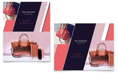 Designer Handbag Poster Template