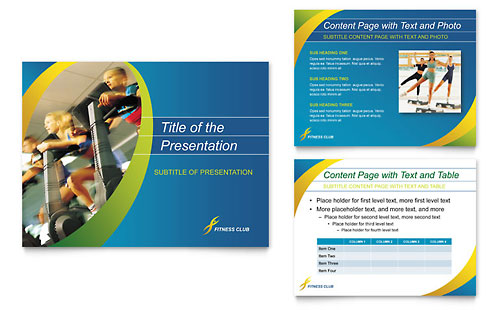 Sports & Health Club PowerPoint Presentation Template