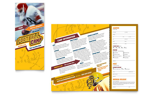 Football Sports Camp - Brochure Template