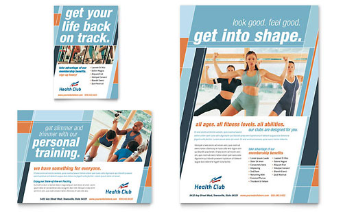 Health & Fitness Gym Flyer & Ad Template