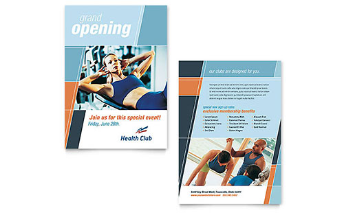 Health & Fitness Gym Announcement Template