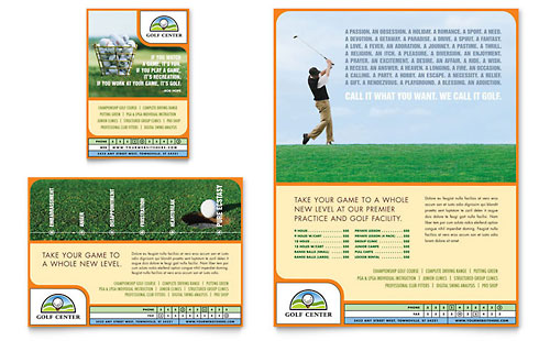 Golf Instructor & Course Flyer & Ad Template