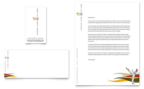 Karate & Martial Arts Business Card & Letterhead Template