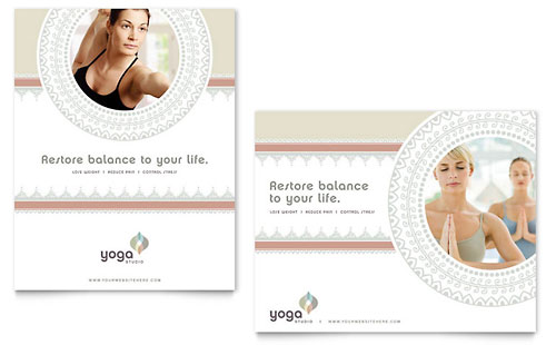 Pilates & Yoga Poster Template