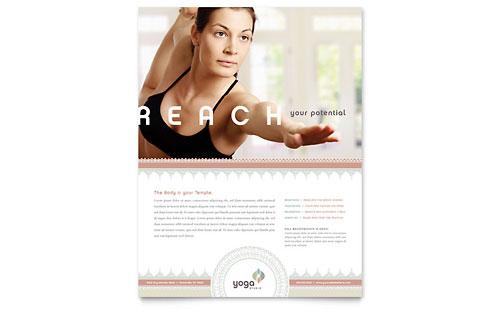 Pilates & Yoga Flyer Template