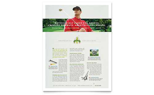 Golf Course & Instruction Flyer Template