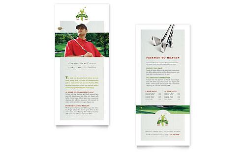 Golf Course & Instruction Rack Card Template