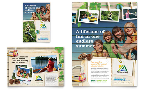 Kids Summer Camp Flyer & Ad Template