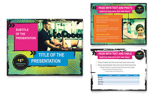 Strength Training PowerPoint Presentation Template