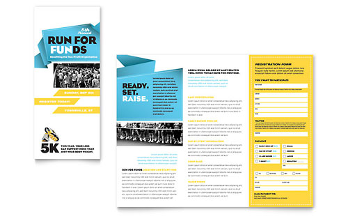 Charity Run Tri Fold Brochure Template