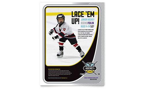 Junior Hockey Camp Flyer Template