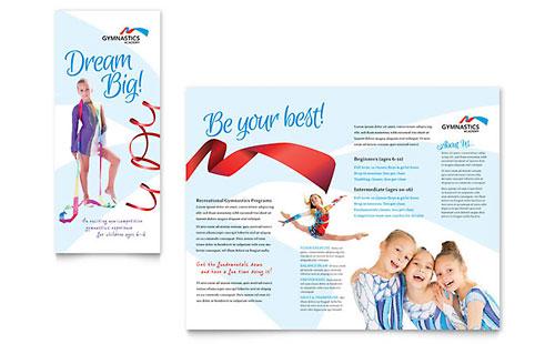 Gymnastics Academy Brochure Template