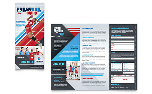 Volleyball Camp - Brochure Template