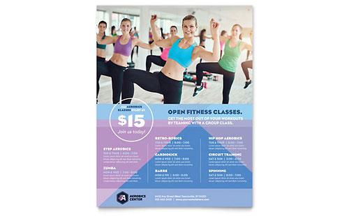 Aerobics Center Class Flyer Template