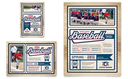 Baseball League Flyer & Ad Template
