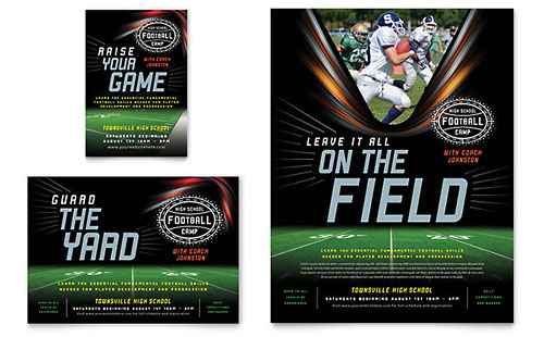 Football Training Print Ad Template