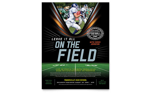 Football Training Flyer Template