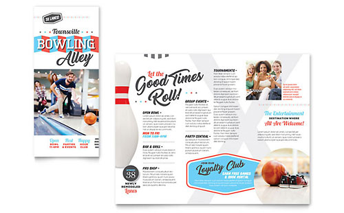 Bowling - Sample Tri-Fold Brochure Template