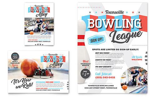 Bowling - Sample Print Ad Template