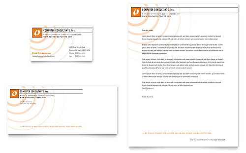 Technology Letterheads – Business Letter Heading Template