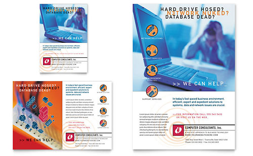 Computer Consulting Flyer & Ad Template