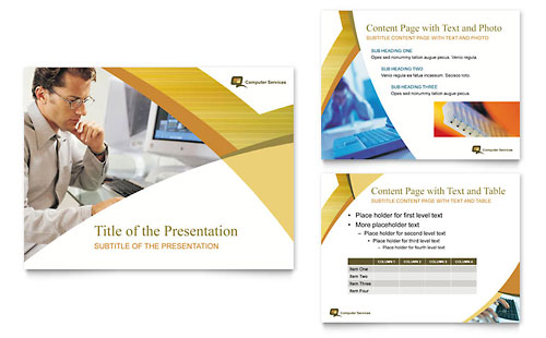 Computer Services & Consulting PowerPoint Presentation Template