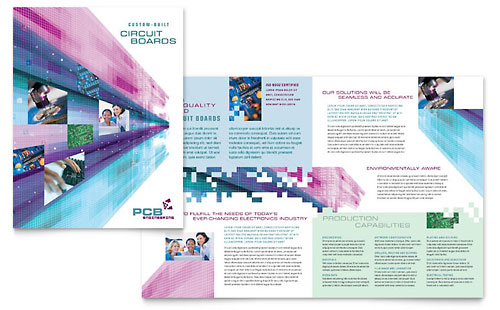 High-Tech Manufacturing Brochure Template