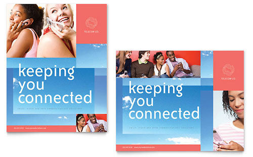 Communications Company Poster Template