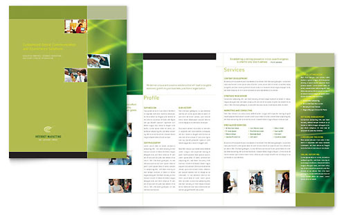 Internet Marketing Brochure Template