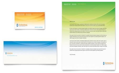 Computer & IT Services Business Card & Letterhead Template