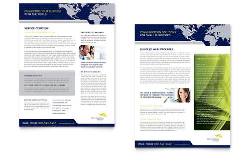 Global Communications Company Datasheet Template