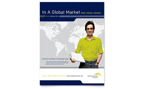 Global Communications Company Flyer Template