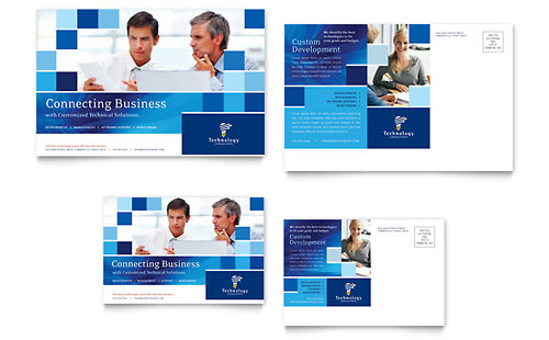 Technology Consulting & IT Postcard Template