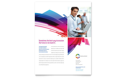 Software Solutions Flyer Template