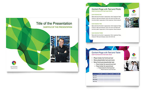 Network Administration PowerPoint Template