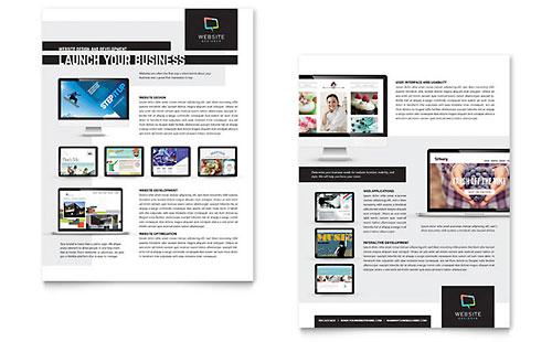 Website Designer - Sales Sheet Template