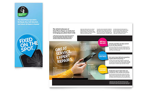 Smartphone Repair - Microsoft Word Brochure Template