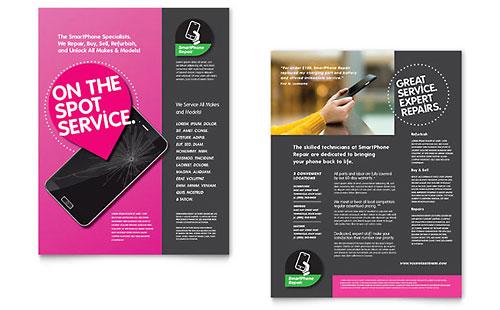 Smartphone Repair Sales Sheet Template