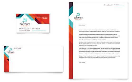 Application Software Developer - Business Card & Letterhead Template
