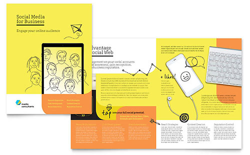 Social Media Consultant InDesign Brochure Template