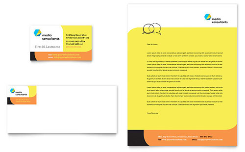 Social Media Consultant Business Card & Letterhead Template